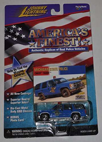 Michigan State Police Chevy Tahoe - Americas Finest - Johnny Lightning - Diecast Car