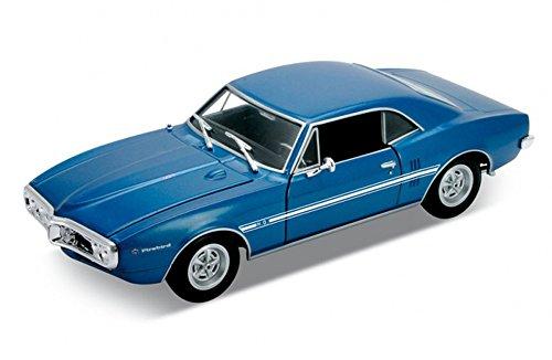 1967 Pontiac Firebird Blue - Welly 22502 - 124 scale Diecast Model Toy Car