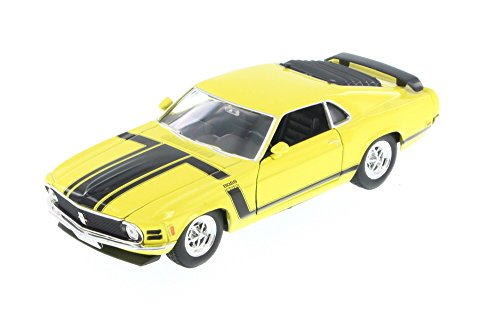 1970 Ford Mustang Yellow - Welly 22088 - 124 Scale Diecast Model Toy Car Brand New but NO BOX