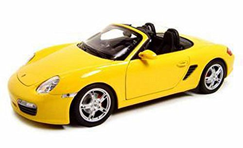Porsche Boxster S Convertible Yellow Diecast 118 Welly
