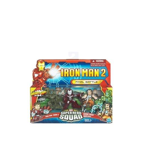 Iron Man 2 Super Hero Squad Mini Figure 3Pack Final Battle Iron Man Mark V Whiplash Armor Drone