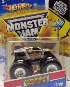 2011 Hot Wheels Monster Jam 1980 MAXIMUM DESTRUCTION 164 Scale Collectible Truck with Monster Jam TATTOO