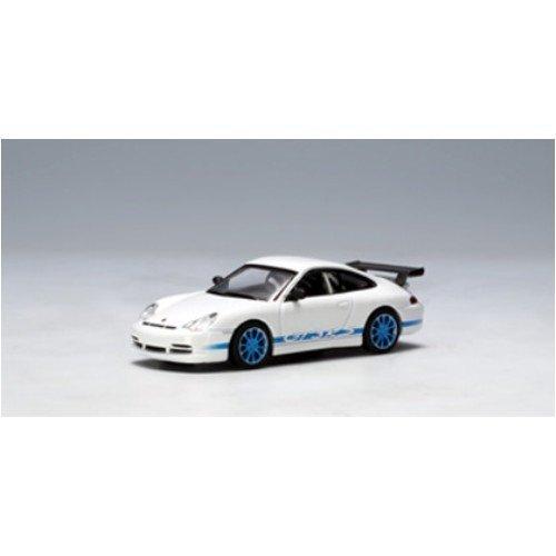 AUTOart 164 model car Porsche 911 996 GT3 RS 04 white  blue stripe japan import