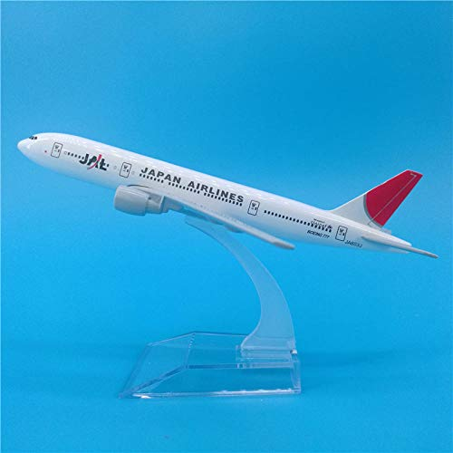 HCBYJ Airplane Model 16cm 1400 Scale Airlines Airplane Model Boeing B777-200 Zinc Alloy Metal Collectible Decoration Gift