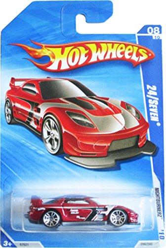 Hot Wheels 10 Nightburnerz Red 24Seven 096240