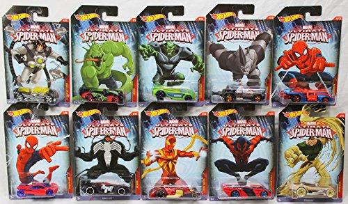 Hot Wheels Marvel Ultimate Spider-Man Complete Set of 10