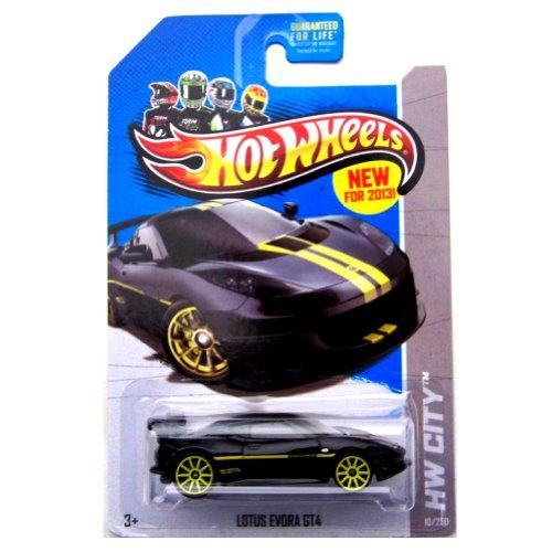 Lotus Evora GT4 13 Hot Wheels 10250 Black Vehicle