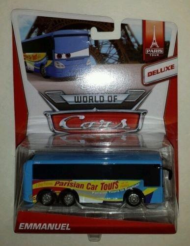 Disney Cars Emmanuel Parisian Car Tours Bus Oversized Package Mattel Diecast