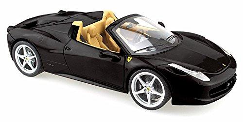 Ferrari 458 Spider Convertible Black - Mattel Hot Wheels BLY65 - 124 Scale Diecast Model Car