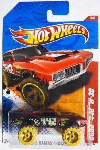 Hot Wheels Mattel DieCast Car 2011 Olds 442 W30 Thrill Racers Desert 185 by Mattel
