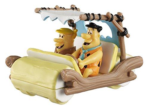 The Flintstones Flintmobile w Fred Barney Figures Brown - Mattel Hot Wheels BCJ83 - 150 Scale Diecast Model Toy Car