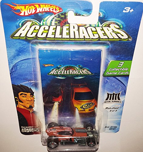 Hot Wheels AcceleRacers Metal Maniacs 8 of 9 Rat-ified 5 Spoke Version