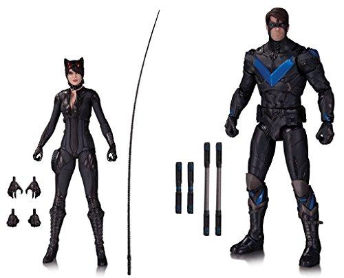 Super Hero Batman Arkham Knight Catwoman Vs Batman Arkham Knight Nightwing Action Figure