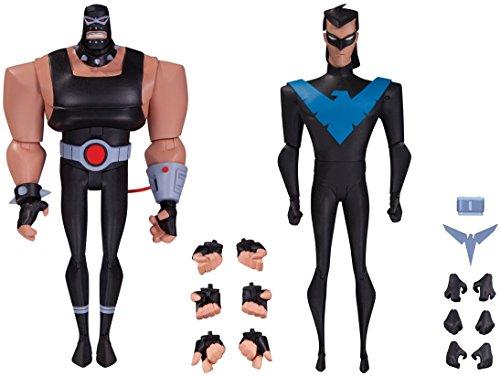 Super Hero The New Batman 7 Adventures Bane Vs Batman 7 Adventures Nightwing Action Figure
