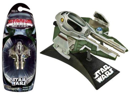 Star Wars Titanium Series 3 Die Cast Metal Anakins Starfighter Vehicle