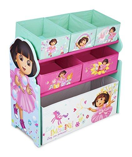 Delta Children Multi-Bin Toy Organizer Nick Jr Dora The Explorer