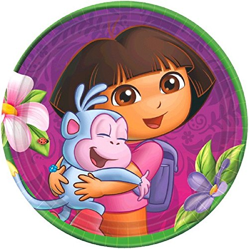 Dora the Explorer Dessert Plates 8 Ct