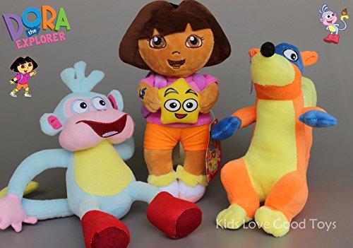 3X Dora The Explorer Swiper Fox Boots The Monkey Plush Toy Soft Doll 10 Teddy