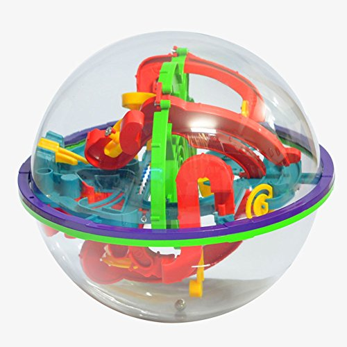 Xieccx Maze Ball Labyrinth Globe Toys 100 Challenging Barriers Best Gift Magic Puzzle Game Independent Play for Children 6 Years