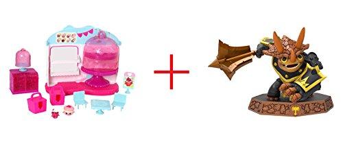 Shopkins Cupcake Queen Cafe and Master Tri-Tip Sensei Skylanders Imaginators Series - Bundle