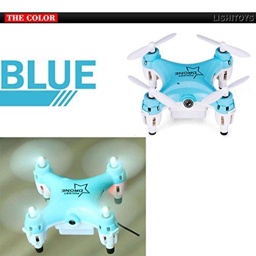 Tiean L6058W 24G 4CH 6Axis RC 3D Roll Quadcopter Mini Pocket Drone WiFi Camera FPV Blue