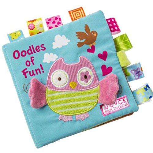 LandFox Animal Puzzle Cloth Book Baby Toy Cloth Development Books