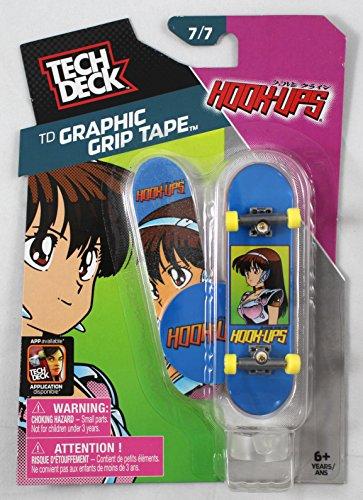 1 2014 TECH DECK 96mm FINGERBOARD - HOOK-UPS BOARD Graphic Grip Tape 77 - New