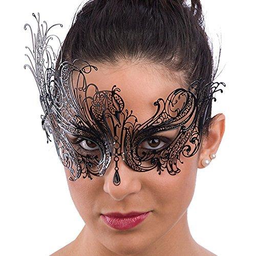 Carnival Toys 00726-adult mask Metal Black by CARNIVAL TOYS SRL