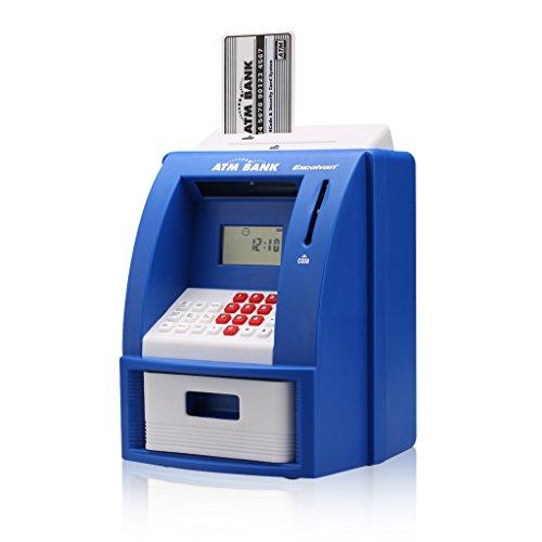 Electronic Digital Mini Home Kids Savings ATM Safe Coin Note Money Piggy Bank Machine
