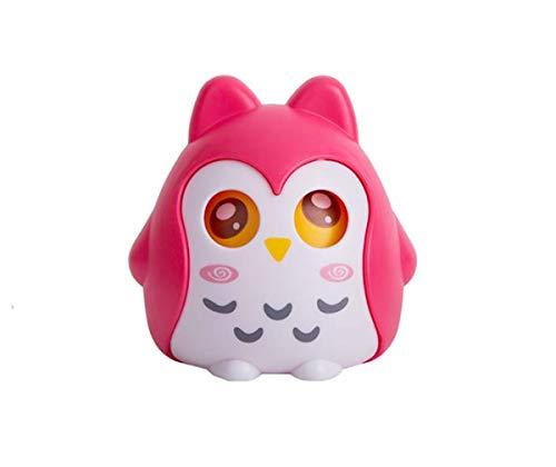 Anna Gifts Cartoon Owl Plastic Piggy BankOwl Saving Coin BoxOwl Money BankCoin Bank for Children Fun ToyColor Hotpink
