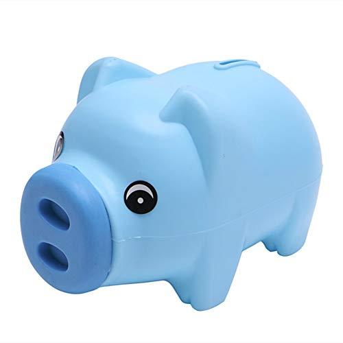 Blue Cute Small Pig Plastic Piggy Bank Coin Cash Piggy BankChild Toy Gift