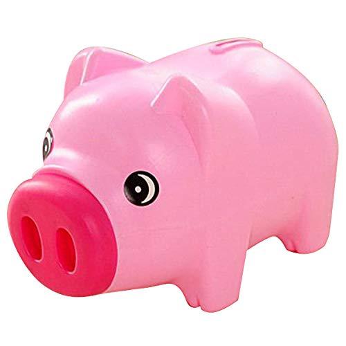 Jzenzero Plastic Piggy Bank Coin Saving Pot Cash Collectible Saving Box Pig Toys for Boys Girls Kids Pink