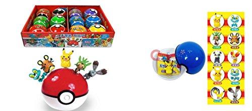Pokemon Pokeball Plastic Coin Bank with Figure inside x 12  1 Box