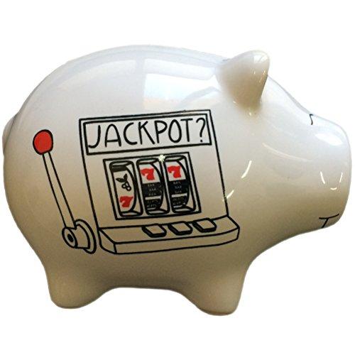 Jackpot white Piggy Bank