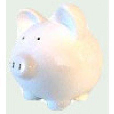 White Ceramic Piggy Banks - Custom 10 Inch Custom
