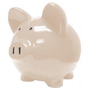 White Navajo Ceramic Piggy Banks - Custom 10 Inch Custom