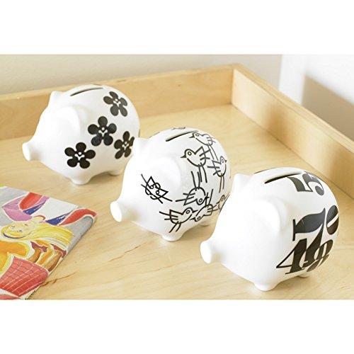 notNeutral Modern Design Piggy Bank Pretty White