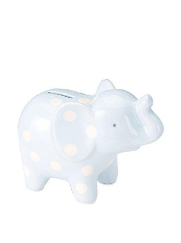 Elegant Baby Elephant Ceramic Bank Blue