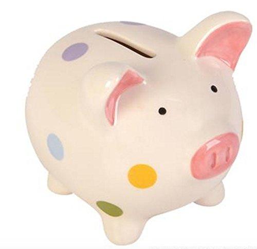 Piggy Bank Ceramic Keepsake Polka Dot PIggy Bank