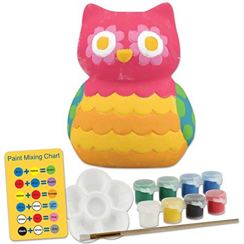 Stephen Joseph Ceramic Paint Your Own Bank-Owl