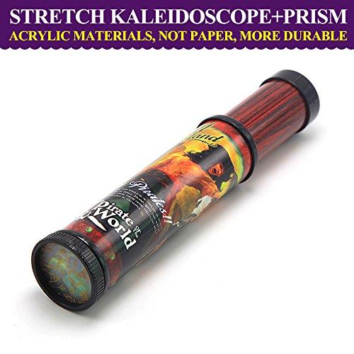 JXD Classic Intelligence Toy Kids Acrylic Stretch Kaleidoscope W10Coffee