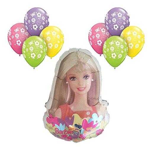 Barbie Balloon Bouquet 9pc