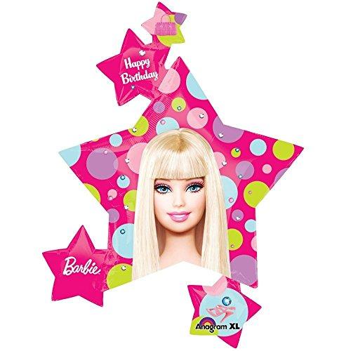 Big Barbie Balloon Mylar Barbie Superstar Cluster
