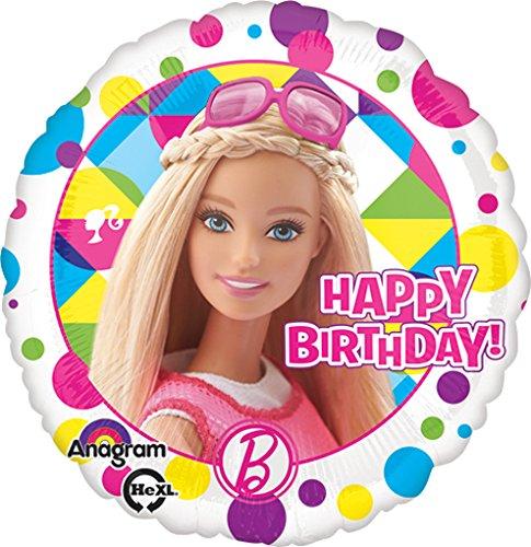 LoonBallon Birthday Barbie Balloon Standard Foil Balloon 5 Pieces