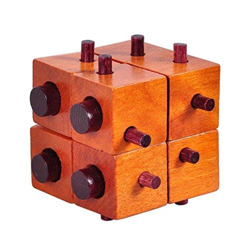 hwangli Wooden Cube Kong Ming Luban Lock Adults Kids Brain Teaser Puzzle Educational Toy