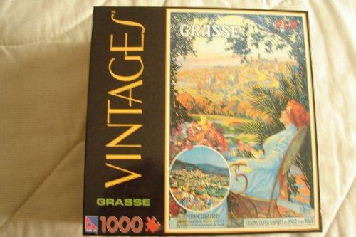 1000-Piece Vintage Jigsaw Puzzle - Grasse