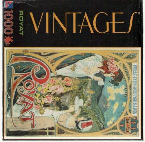 1000-Piece Vintage Jigsaw Puzzle - Royat