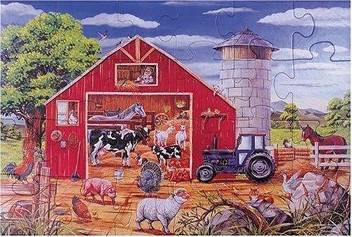 24-piece Deluxe Animals In The Barn Cardboard Floor Puzzle