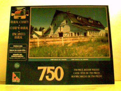 Rural Charm - Port Kells BC Canada - White Barn Puzzle 750 Pieces 235 X 155