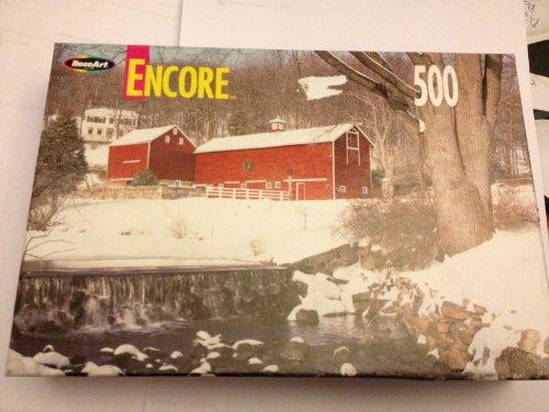 Winter Barn Scene No 06052 500 Pc ENCORE Jigsaw Puzzle